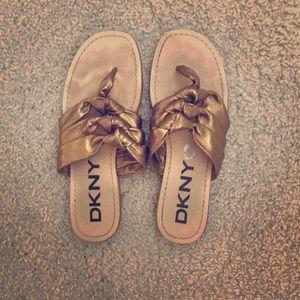 DKNY flat sandals